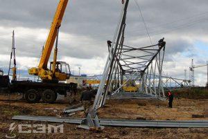 Строительство воздушных линий (фото 3)